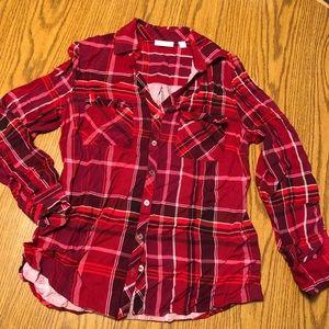 New York & Company Plaid Shirt